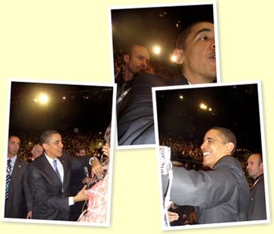 View President Obama Shaking Hands With Crowd Strasbourg 2009