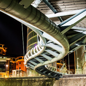 Valentines Bridge by Andro Andrejevic - Buildings & Architecture Bridges & Suspended Structures ( valentine bridge, structure, night photography, night shot )