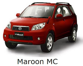 rush: new, toyota, facelift, warna, color, maroon mc