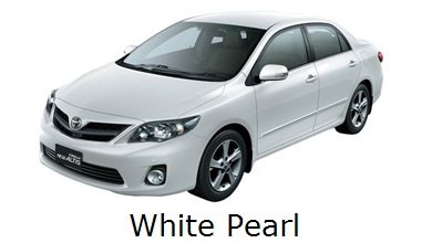 corolla altis: grand, all, new, toyota, facelift, warna, color, white pearl