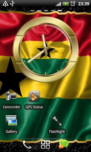 Ghana flag clocks