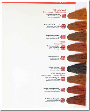wella kp 2010 chart165 - Paul Mitchell Color Swatch Book