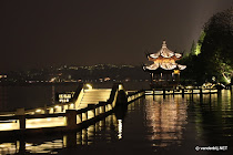 Floating walkway on the lake in Hangzhou