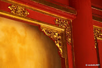 Detail of restauration work going on in the Purple Forbidden city of Hue, Vietnam