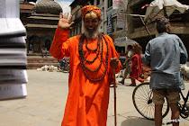 Ascete in the streets of Kathmandu, Nepal