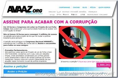 Avaaz - Assine para acabar com a corrupção
