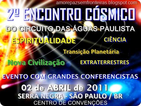 Encontro Cósmico transferido para 02 de Abril 2011