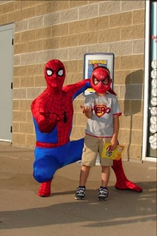 Treyton and Spiderman2