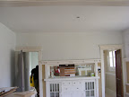 The dining room, all painted white