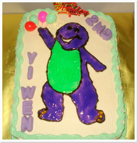 Barney Cake Toppers For Birthdays