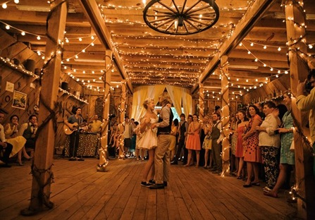 And I'm a fan of not-so-formal wedding receptions. Barn