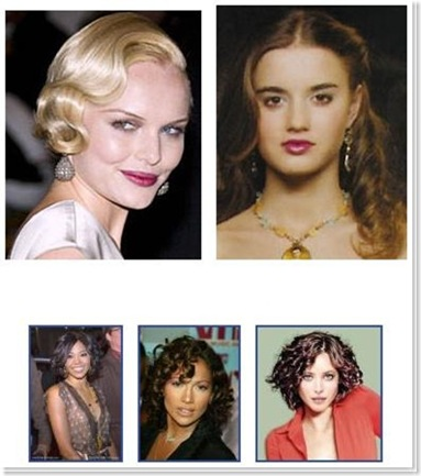 pin curl hairstyles. Celebrity Hairstyles With Curls 2009