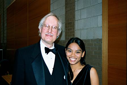Prof. Diggs and Michelle Judd at Lehigh University, Spring 2002