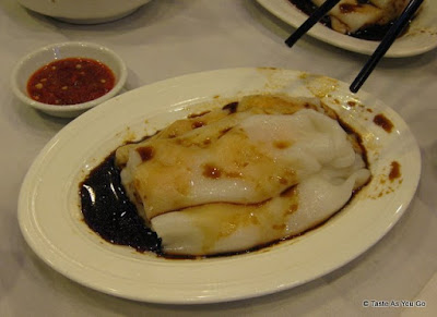 Rice Noodles Stuffed with Shrimp at Jing Fong Restaurant - Photo by Taste As You Go