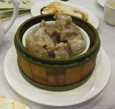Steamed Pork Spare Ribs with Taro Root at Jing Fong Restaurant - Photo by Taste As You Go