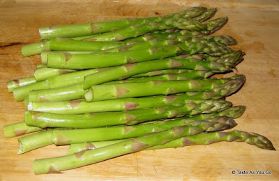 Bunch of Asparagus - Photo by Michelle Judd of Taste As You Go