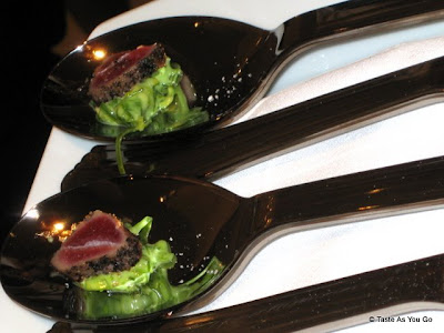 Seared Tuna on Avocado and Wasabi Salad - Photo by Taste As You Go