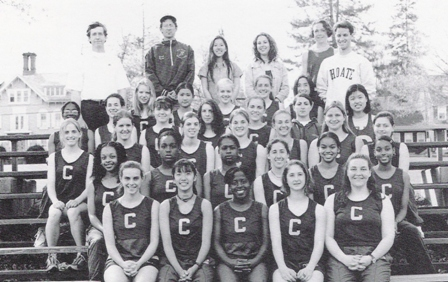 Choate Rosemary Hall Girls Track in 1996 - Photo courtesy of Stephanie Little