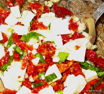 Stuffing for Baked Stuffed Chicken Caprese - Photo by Taste As You Go