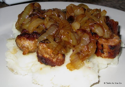 Pan-Fried-Chorizo-Caramelized-Onions-Mashed-Potatoes-tasteasyougo.com