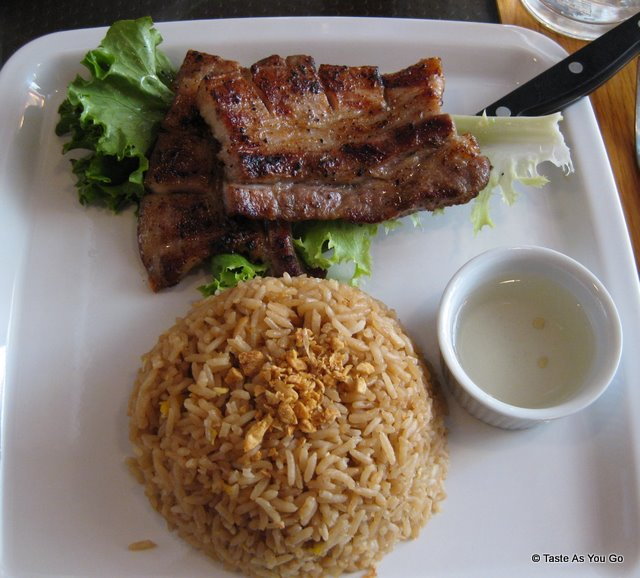 Grilled Pork Belly with Garlic Rice at Ihawan2 in Long Island City, NY | Taste As You Go