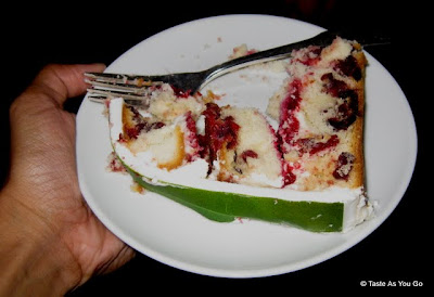 Slice of the Ace of Cakes Ocean Spray Cake - Photo by Taste As You Go