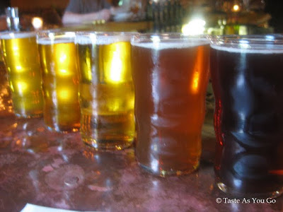 Beer Flight at Tap and Table Gastropub in Emmaus, PA - Photo by Taste As You Go