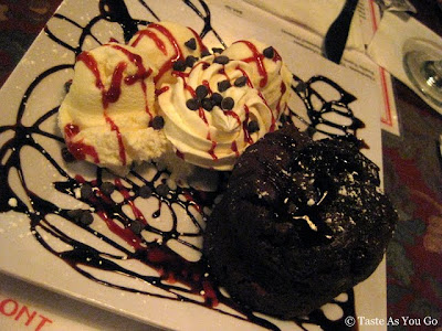 Chocolate Lava Cake at The Waterfront Crabhouse in Long Island City, NY - Photo by Taste As You Go