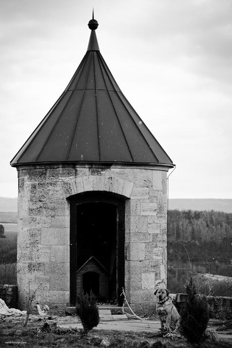 Hundehütte im Wachturm der Wachsenburg