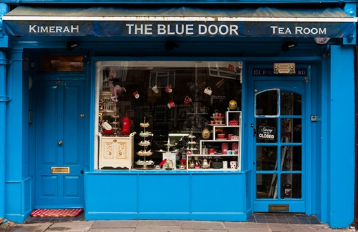 London, Portobello Road, Kimerah - The Blue Door Tea Room