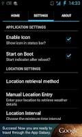 Screenshot of EZ Weather Indicator
