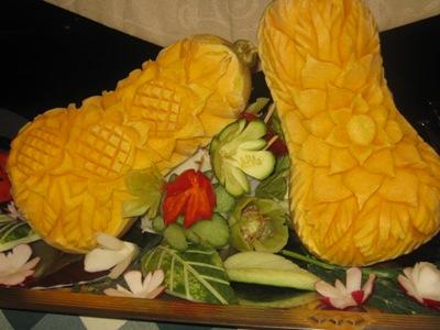 crete veg sculptures