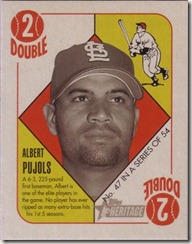 2005 Pujols Heritage Red Back Mini
