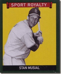 2009 UD Goudey Musial Green Border
