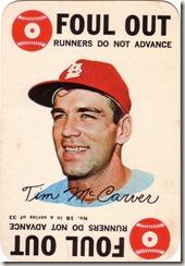 1968 Topps McCarver Game
