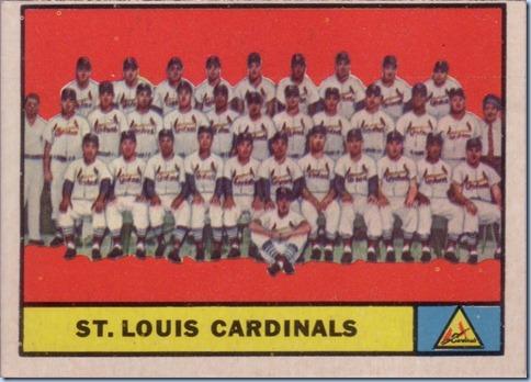 1961 Topps Cardinals