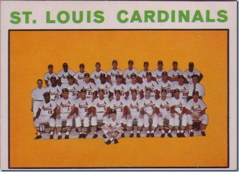 1964 Topps Cardinals