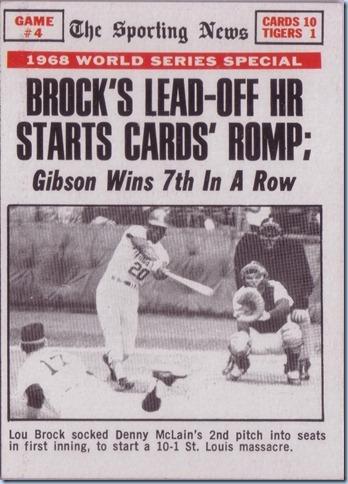 1969 Topps Brock WS HR