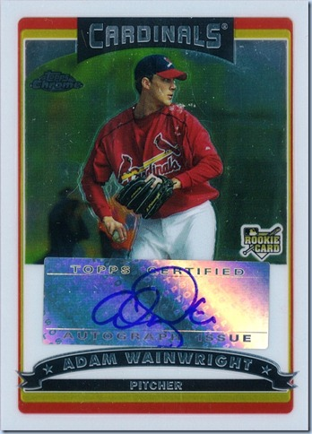 2006 Topps Chrome Wainwright Auto RC