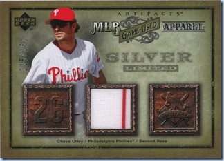 2006 UD Artifacts Utley Jersey 215 of 250