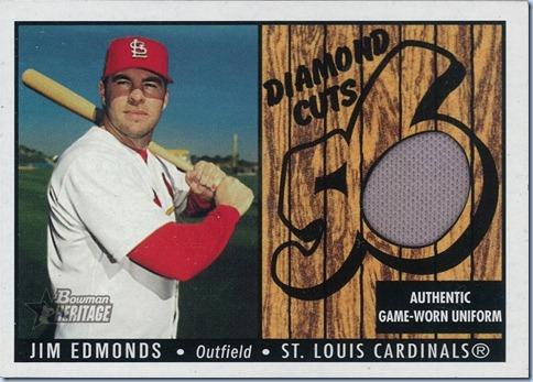 2003 Bowman Heritage Jim Edmonds Jersey