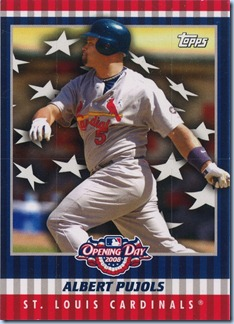 2008 Topps Opening Day Pujols Fold Out