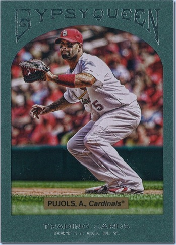 2011 Gypsy Queen Pujols Retail Frame