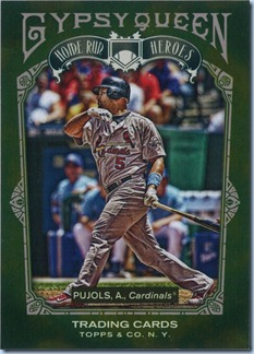 2011 Gypsy Queen Pujols HR Heroes