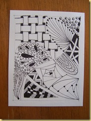 First Zentangle piece