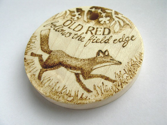 old red fox pyrography 1