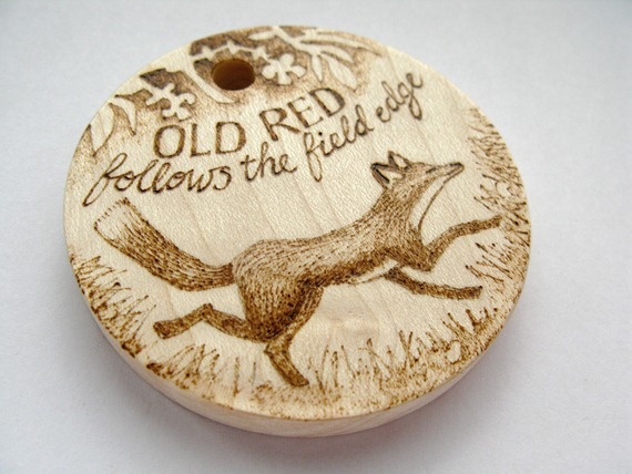 old red fox pyrography 2