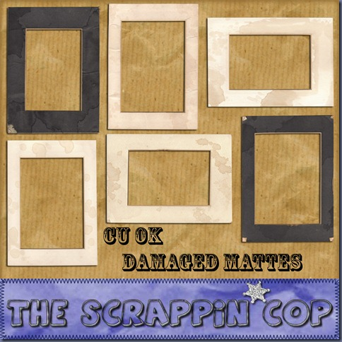 "Free ""Damaged Mattes"" from The Scrappin Cop - {CU}"