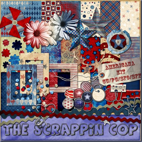"Free ""Americana Kit"" from The Scrappin Cop - {CU}"