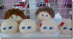 Doll heads resized